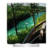 020 Niagara Gorge Trail Series  Shower Curtain