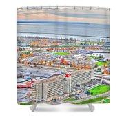 020 Series Of Buffalo Ny Via Birds Eye Adams Mark Shower Curtain