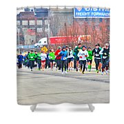 020 Shamrock Run Series Shower Curtain