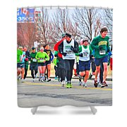 021 Shamrock Run Series Shower Curtain