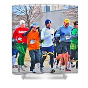 022 Shamrock Run Series Shower Curtain