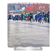 026 Shamrock Run Series Shower Curtain