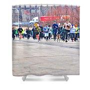 027 Shamrock Run Series Shower Curtain