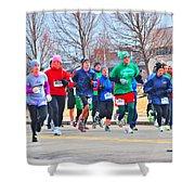 028 Shamrock Run Series Shower Curtain