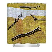 0291 Abstract Landscape Shower Curtain