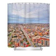 031 Series Of Buffalo Ny Via Birds Eye West Side Shower Curtain