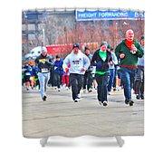 032 Shamrock Run Series Shower Curtain
