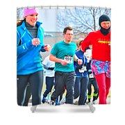 034 Shamrock Run Series Shower Curtain