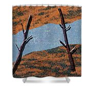 0361 Abstract Landscape Shower Curtain