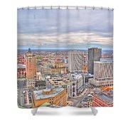 037 Series Of Buffalo Ny Via Birds Eye Downtown Buffalo Shower Curtain