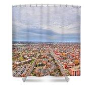 040 Series Of Buffalo Ny Via Birds Eye West Side  Shower Curtain
