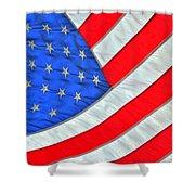 05 American Flag Shower Curtain