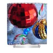 05 Christmas Card Shower Curtain