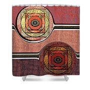 0523 Abstract Thought Shower Curtain