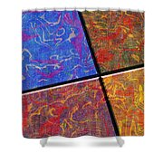 0580 Abstract Thought Shower Curtain