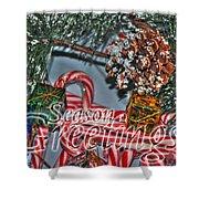 06 Christmas Cards Shower Curtain