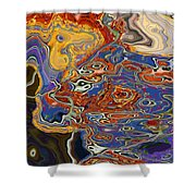 0615 Abstract Thought Shower Curtain