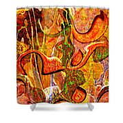 0625 Abstract Thought Shower Curtain