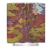 0637 Abstract Thought Shower Curtain