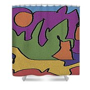 0638 Abstract Thought Shower Curtain