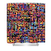 0649 Abstract Thought Shower Curtain