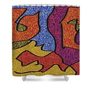 0664 Abstract Thought Shower Curtain