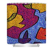 0665 Abstract Thought Shower Curtain