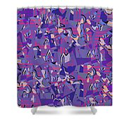 0667 Abstract Thought Shower Curtain