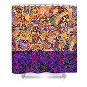 0672 Abstract Thought Shower Curtain