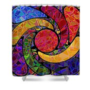 0677 Abstract Thought Shower Curtain