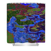 0681 Abstract Thought Shower Curtain
