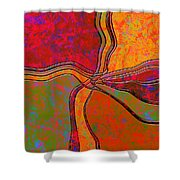 0683 Abstract Thought Shower Curtain