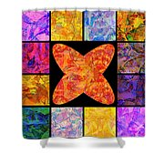 0690 Abstract Thought Shower Curtain