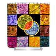 0691 Abstract Thought Shower Curtain