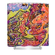 0693 Abstract Thought Shower Curtain
