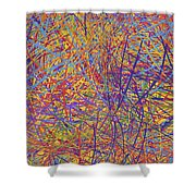 0705 Abstract Thought Shower Curtain