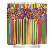 0706 Abstract Thought Shower Curtain