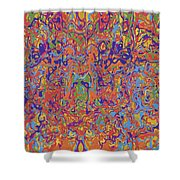 0707 Abstract Thought Shower Curtain