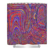 0708 Abstract Thought Shower Curtain
