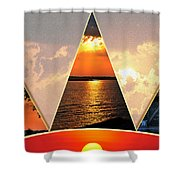 0a Relaxing Sunsets Collage Shower Curtain
