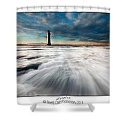 New Brighton Lighthouse Shower Curtain