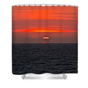 Sunrise Falmouth Docks Shower Curtain