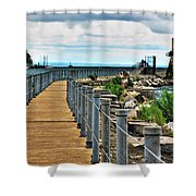 001 Peace Bridge Series Shower Curtain