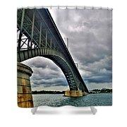 009 Stormy Skies Peace Bridge Series Shower Curtain