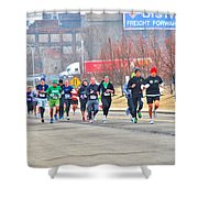 013 Shamrock Run Series Shower Curtain