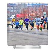 014 Shamrock Run Series Shower Curtain
