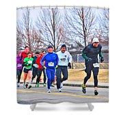 015 Shamrock Run Series Shower Curtain