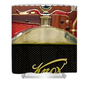 1909 Knox Open Touring Hood Ornament Shower Curtain
