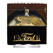 1911 Ford Model T Torpedo Hood Ornament Shower Curtain