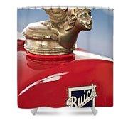 1928 Buick Custom Speedster Hood Ornament Shower Curtain